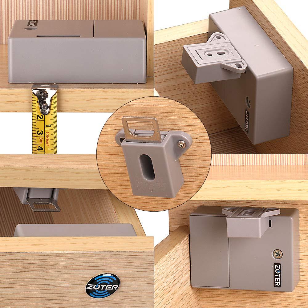 Para armario zoter recargable RFID tarjeta oculta Caj/ón Locker Lock sin llave DIY sin agujero de perforado