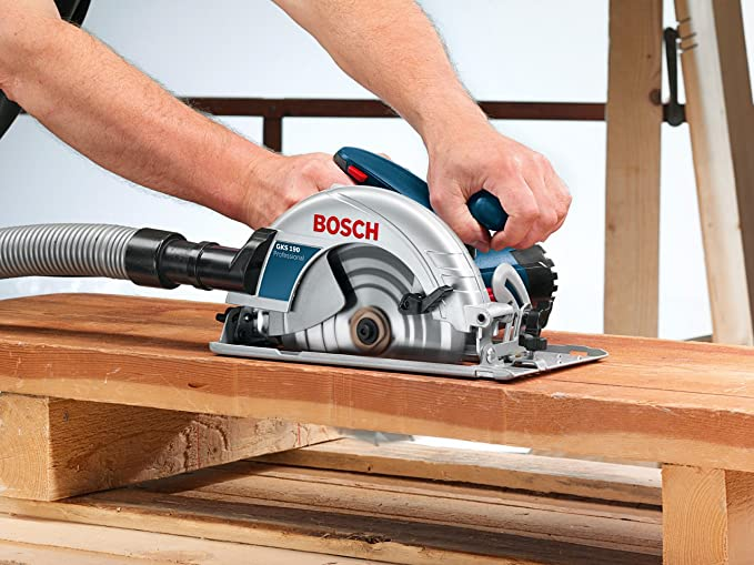 Bosch Professional 601623070 Hand Held Circular Saw Gks 190 240 V Saw Blade ø 190 Mm Rated Input Power 1 400 W Incl 1 X Circular Saw Blade Parallel Guide Hex Key Amazon Co Uk Diy Tools