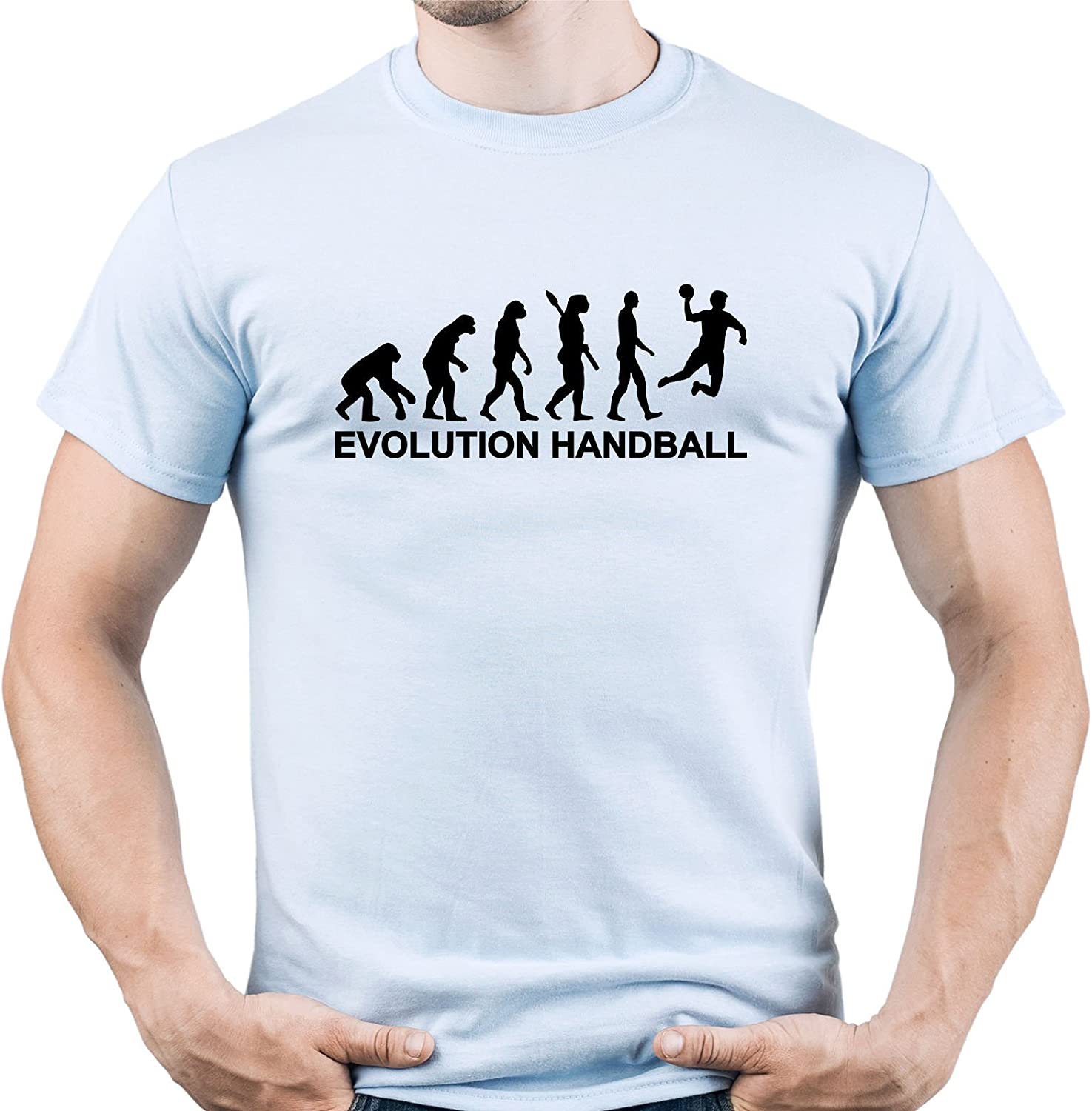 Handball Evolution Shirt Handball Tshirt Handball Player tee Handball Player Gift Camiseta para Hombre: Amazon.es: Ropa y accesorios