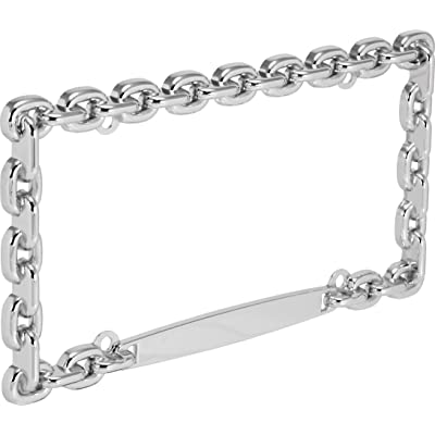 Bell Automotive 22-1-46009-8 Universal Chrome Mega-Metal Chain Design License Plate Frame: Automotive