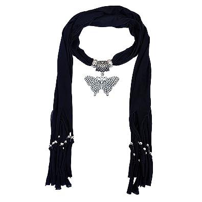 Buy scarf necklace california big butterfly stone crystal black scarf necklace california big butterfly stone crystal black necklace scarf pendant scarf stole muffler aloadofball Gallery