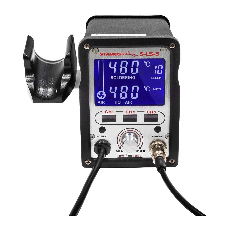 Stamos Soldering - S-LS-5 Basic - Estación de soldadura - aire caliente- 75 W - LED- Envío Gratuito: Amazon.es: Bricolaje y herramientas
