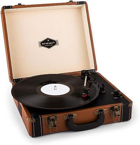 Auna - Tocadiscos en maletín Jerry Lee, de Estilo Vintage ...