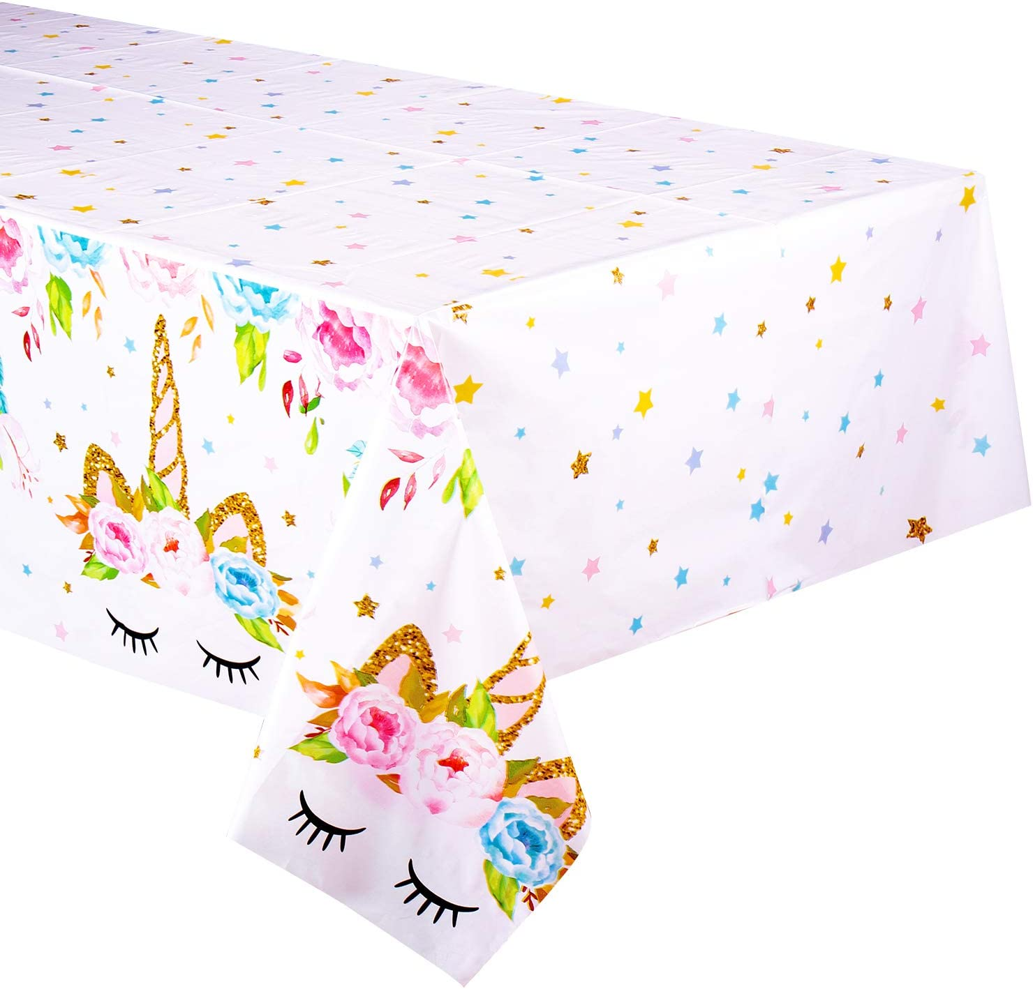 Unicorn Themed Birthday Party Decorations - Unicorn Plastic Tablecloth | 53 x 90 inches,Disposable Table Cover | Magical Unicorn Party Supplies for ...