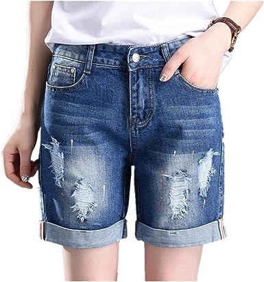 Pantalones Cortos Para Mujer Tallas Grandes Jeans De Mezclilla Mode De Marca Pantalones Vaqueros Elegantes De Las Muchachas Pantalones Cortos Del Dril De Algodon Pantalones Cortos Pantalones De Amazon Es Ropa Y Accesorios