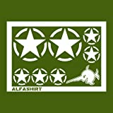 Militaire uS army-stickers étoile blanc army tuning set de 31 cm x 20 m #) a082