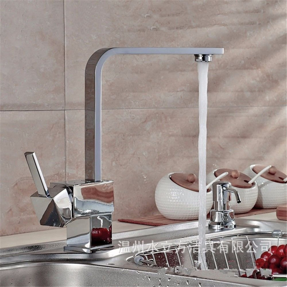 Lalaky Taps Faucet Kitchen Mixer Sink Waterfall Bathroom Mixer Basin Mixer Tap for Kitchen Bathroom and Washroom redating Hot and Cold