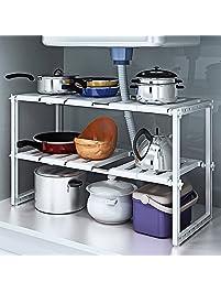 Shop amazonunder sink organizers under sink 2 tier expandable adjustable kitchen workwithnaturefo