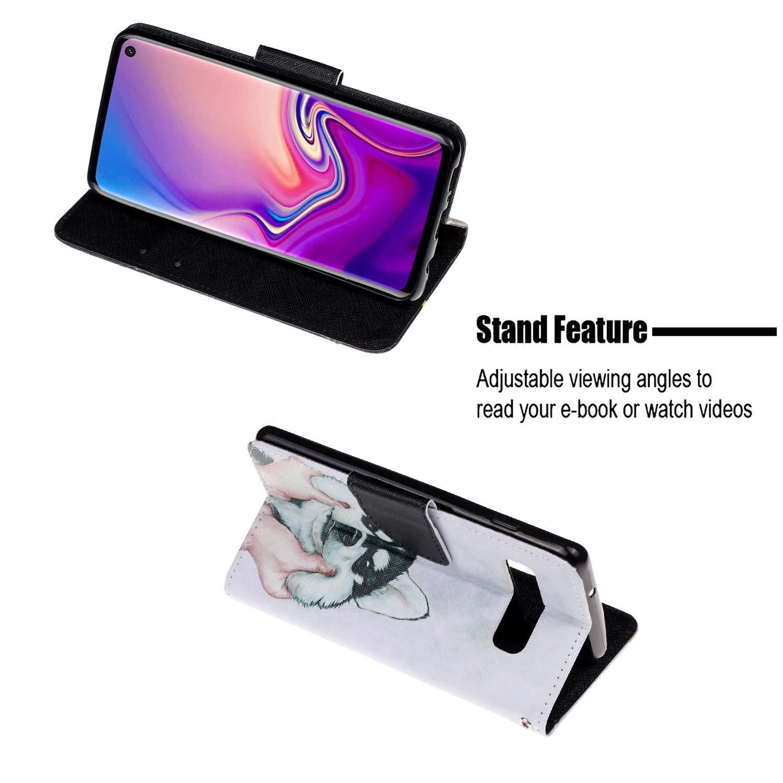 HMTECH Galaxy S10 Coque Coeurs color/és Slim Housse /Étui PU Cuir Housse Coquille Couverture Magn/étique Stand Compatible with Samsung Galaxy S10,Colorful Heart HX