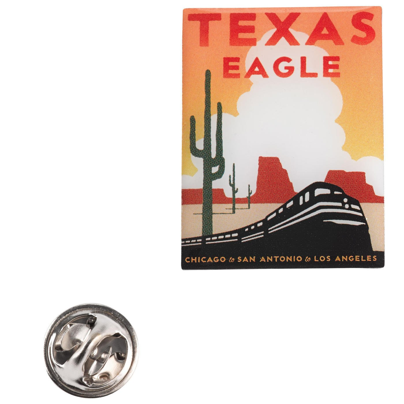 Amtrak Texas Eagle Collector Edition Michael Schwab Acrylic Lapel Hat Pin