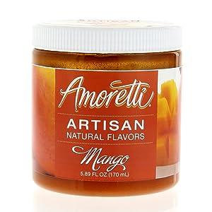 Amoretti Natural Artisan Flavor Mango Flavoring, 5.89 Fluid Ounce