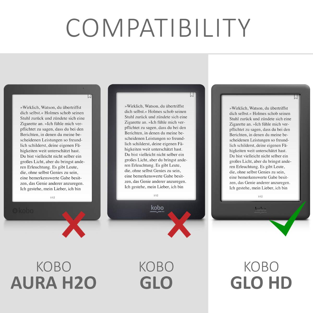 kwmobile Funda para Kobo GLO HD/Touch 2.0: Amazon.es: Electrónica