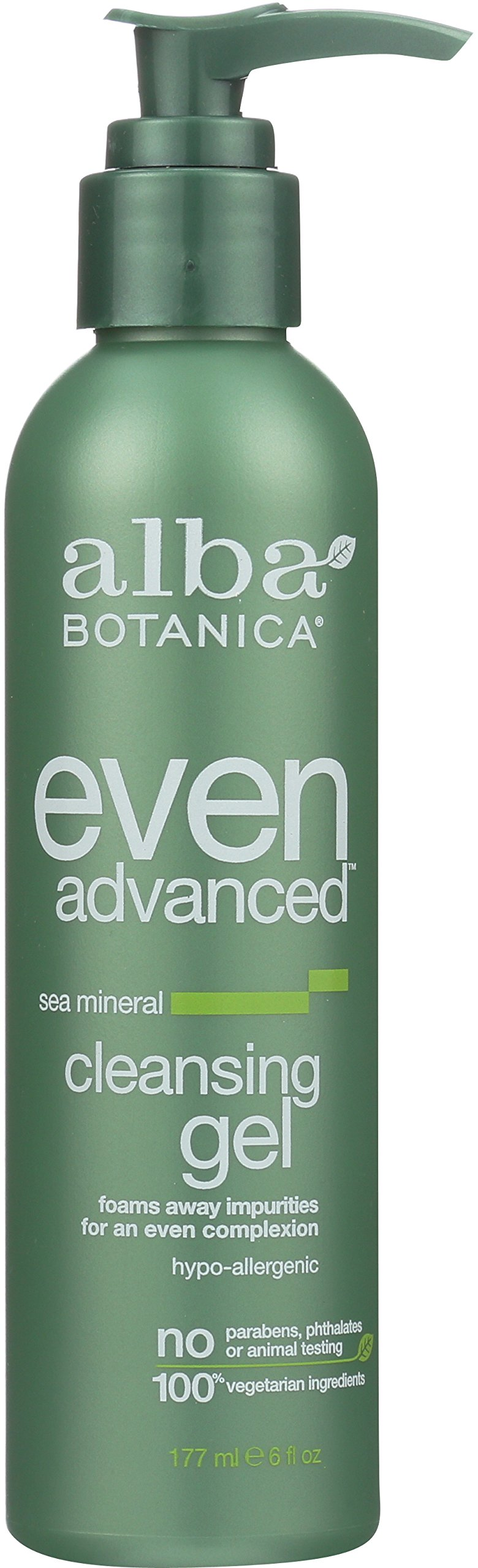 Alba Botanica Even Advanced, Sea Mineral Cleansing Gel, 6 Ounce