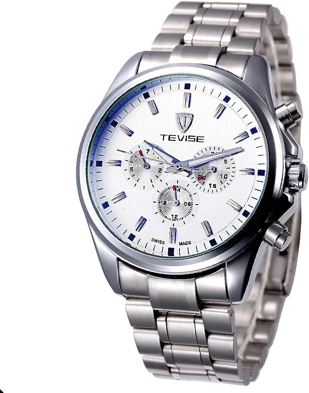 ZHANGZZ Bello orologio TEVISE, Orologio da uomo da uomo TEVISE con orologio automatico da uomo a compressore d\'aria 1