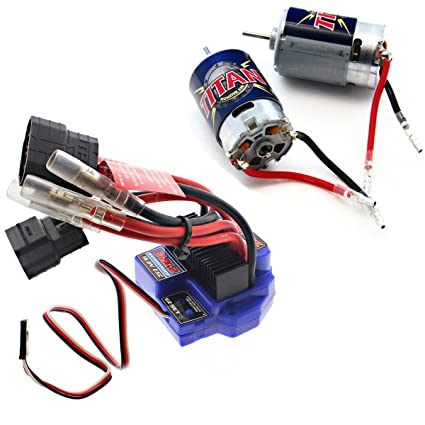 amazon com traxxas 1 10 e revo 16 8v waterproof evx 2 esc 2 titan rh amazon com Multi Speed Blower Motor Wiring Maker Fire ESC Wiring