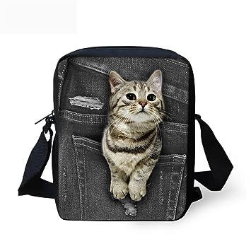Amazon.com: showudesigns Denim gato perro impreso hombres ...