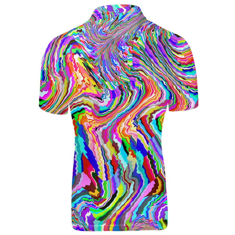 Showudesigns Mens Fashion Shirts Slim Fit Summer Casual Short Sleeve T Shirt with Buttons Casual Hawaiian