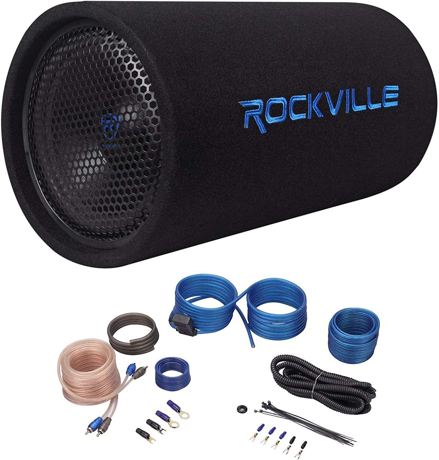 Rockville 10 500W Powered Subwoofer Bass Remote 10 inch RTB10A Audiosavings