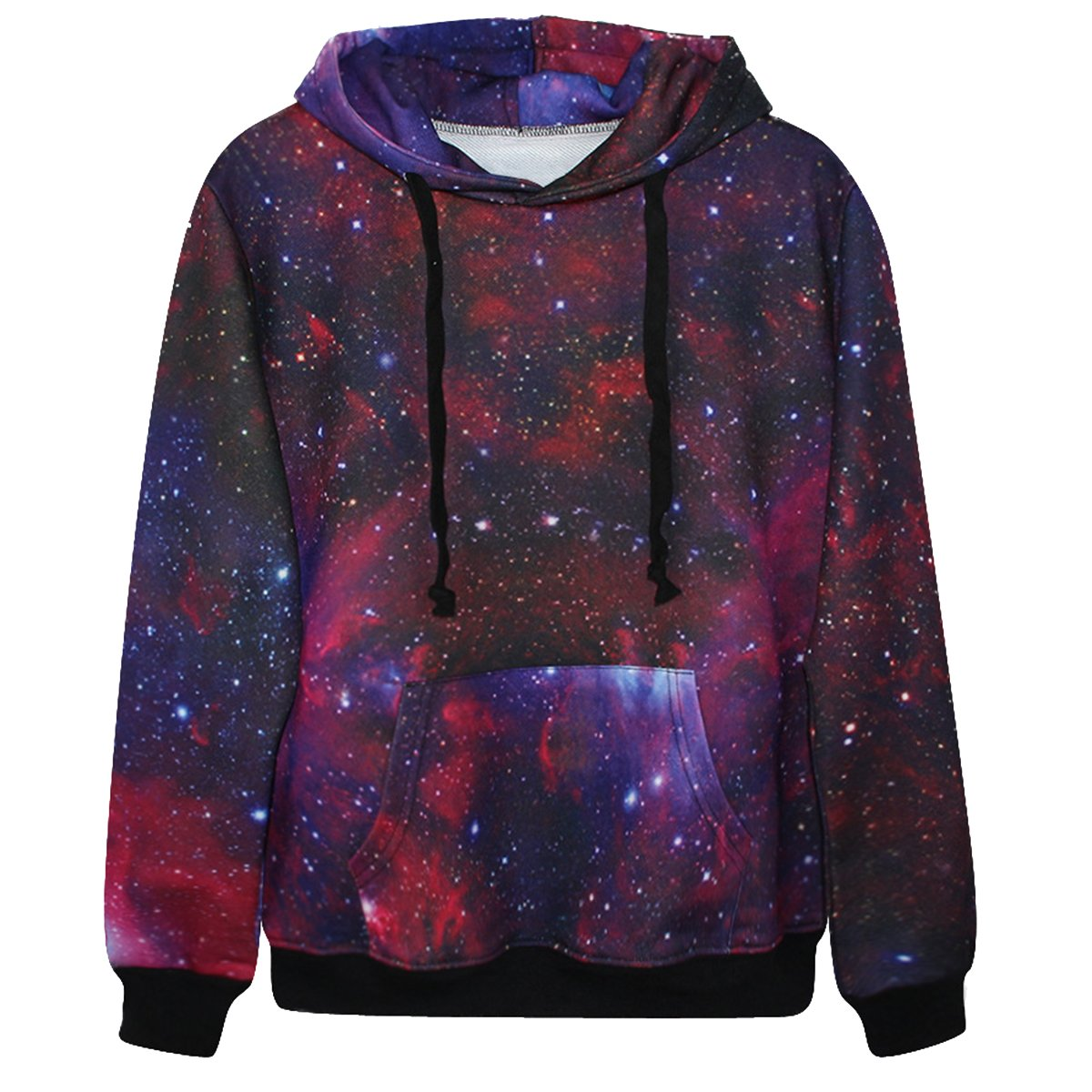 Niyatree Galaxy Stars Hoodie Sweater Long Sleeve Pullover Sweatshirt For Lovers
