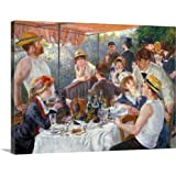 """Pierre Auguste Renoir Premium Thick-Wrap Canvas Wall Art Print entitled The Luncheon of the Boating Party, 1881 24""""x18"""""""