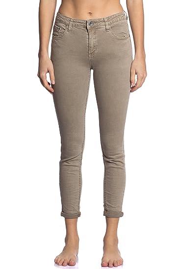 Abbino 3D-6109 Jeans mit Taschen Damen Frauen - 7 Farben - Übergang Herbst Winter Elegant Charme Sexy Zärtlichkeit Casual Fes