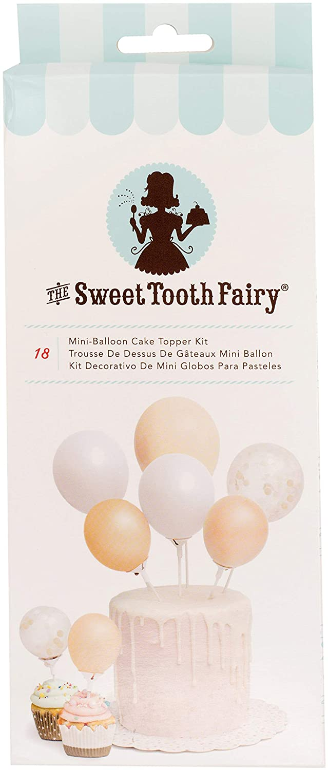 American Crafts Sweet Tooth Fairy Accessories Mini Balloon Cake Topper Kit Gold