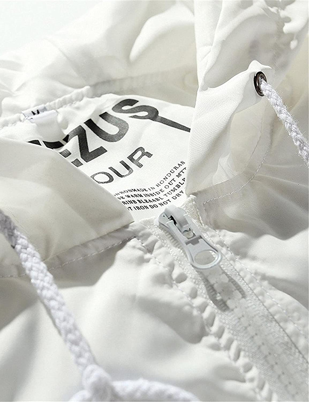 Retires Men Casual Hoodie Long Sleeve Letter Print Lightweight Anti-Sun Outerwear Fashion Hoodies