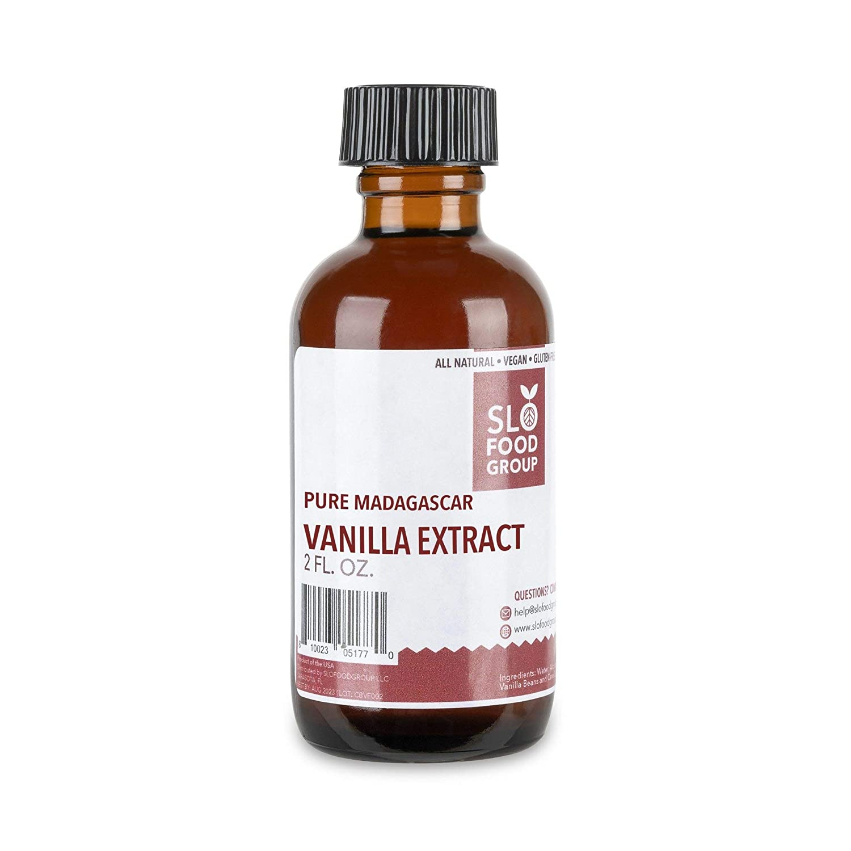 Slofoodgroup Madagascar Vanilla Extract - All Natural Pure Vanilla Extract made with Madagascar Bourbon Vanilla Beans, 2 fl. oz.