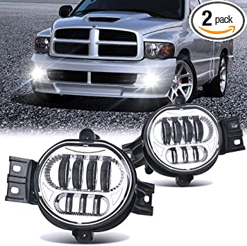 Driving Fog Light Lamps w//2 Light Bulbs One Pair For 2004-2006 Durango