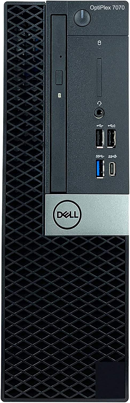 Dell OptiPlex 7070 SFF Small Form Factor Desktop - 9th Gen Intel Core i7-9700 8-Core CPU up to 4.70GHz, 16GB DDR4 Memory, 2TB SSD + 4TB Hard Drive, Intel UHD Graphics 630, DVD Burner, Windows 10 Pro