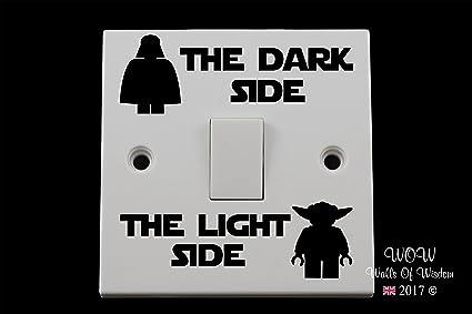 Lego Star Wars Light Switch Sticker Dark Side Light Side Black