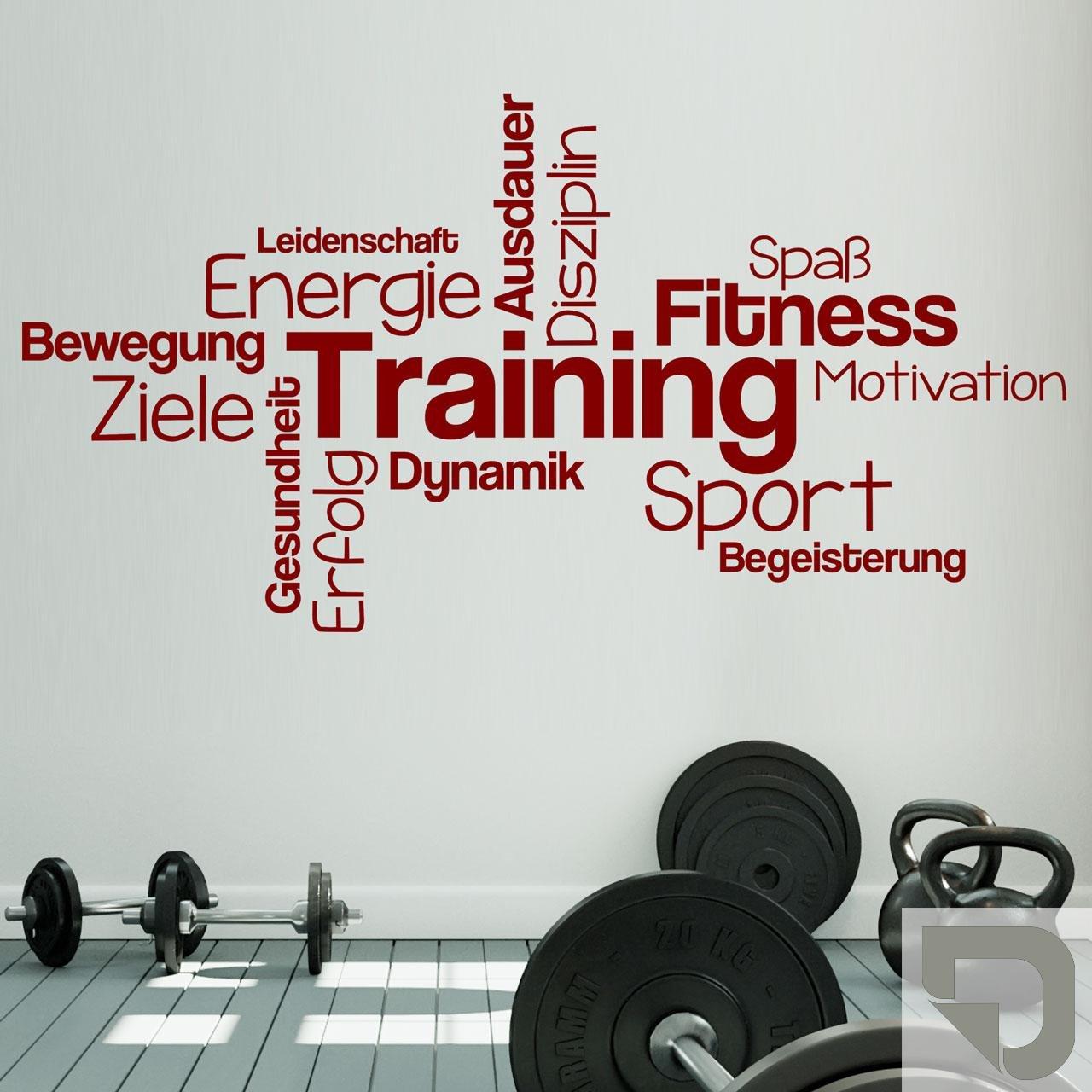 DESIGNSCAPE® Wandtattoo Training Training Training Begriffe   Wortwolke zur Motivation   Wandtattoo Sport 120 x 62 cm (Breite x Höhe) dunkelrot DW803439-M-F21 B071KVHBZ9 Wandtattoos & Wandbilder 2cff00