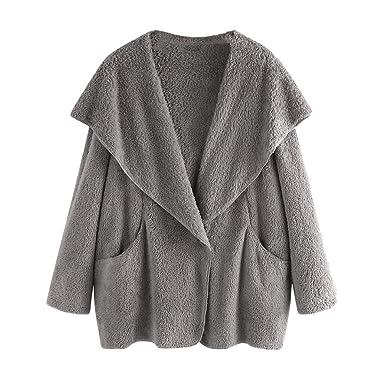 KCatsy Mujer Plus Size Oversize Abrigo Casaca Chaquetas Cárdigan ...