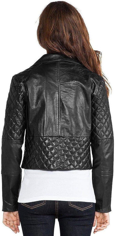 Pristine Leather Womens Real Lambskin Leather Black Blazer Coat Jacket WJ-060