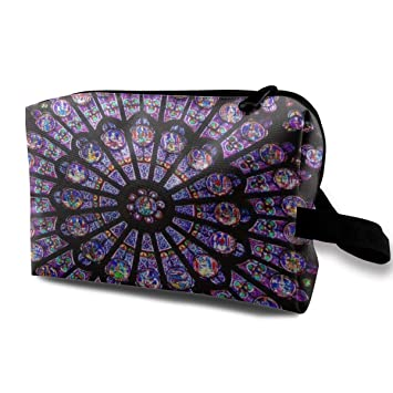 b8b16c096119 Amazon.com : Paris Dame Cathedral Skylight Travel Cosmetic Bag For ...