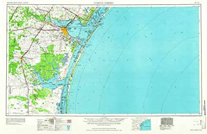 Corpus Christi Map Of Texas.Amazon Com Yellowmaps Corpus Christi Tx Topo Map 1 250000 Scale