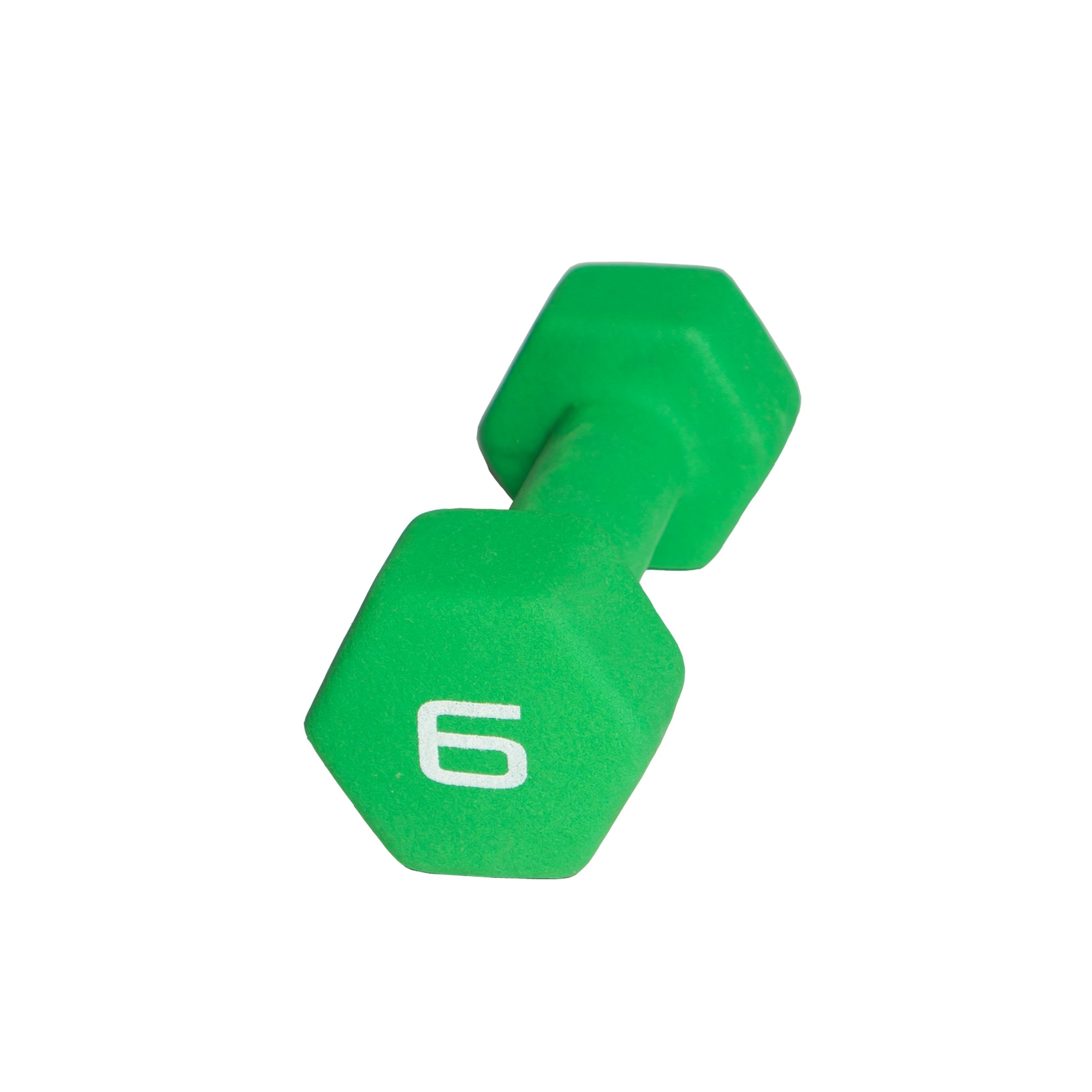 CAP Barbell Neoprene Dumbbell Weights, 6-Pound, Green, Single