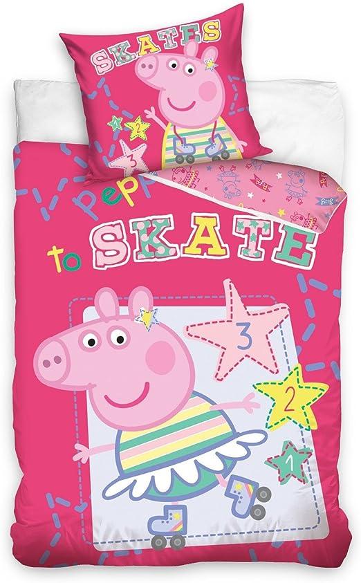 Peppa Pig Saco edredón algodón Individual 140 x 200 cm Funda de ...
