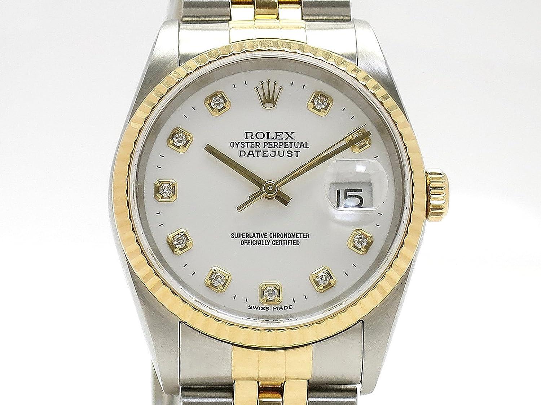 (ロレックス) ROLEX 腕時計 デイトジャスト メンズ時計 10Pダイヤ 16233G(Y) K18YG/SS 中古 B07DQGFGJM