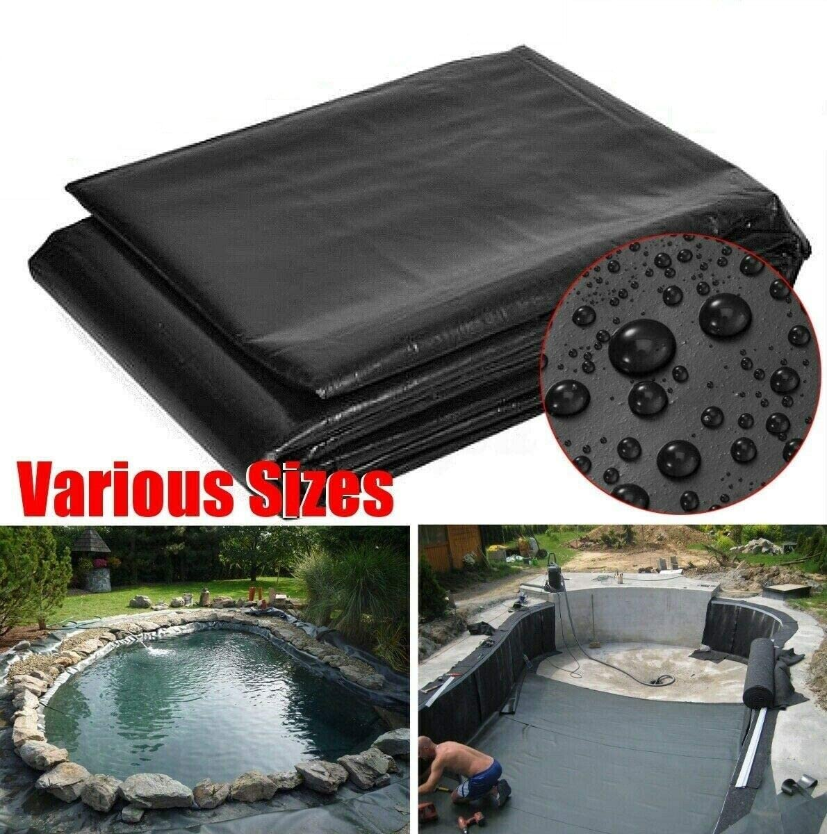 SolaDirect 2.5 x 3 m Heavy Duty Fish Pond preformed Liners Garden Pool Membrane Reinforced Landscaping
