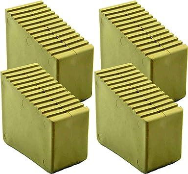 Pies de goma para escaleras de madera, 4 unidades 3 – 8 travesaños Tamaño interior 56 x 23 mm color arena HB40: Amazon.es: Bricolaje y herramientas