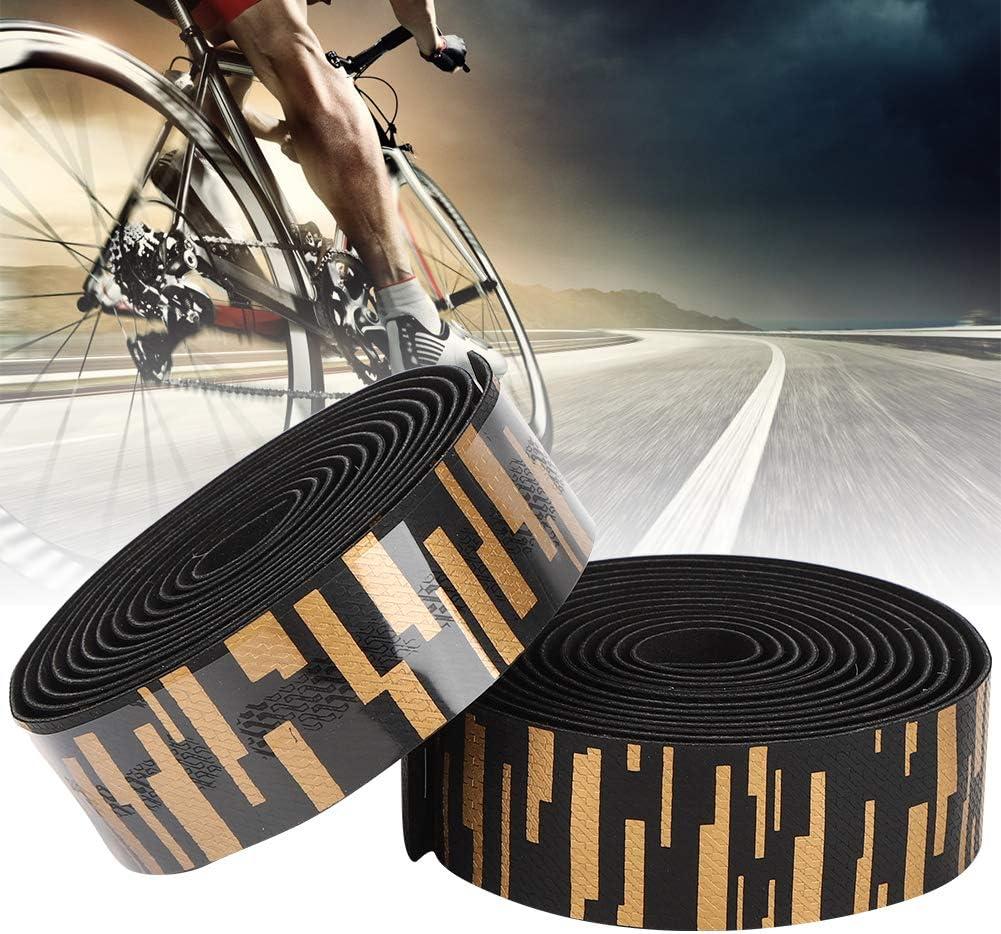 Gold Black Vbest life ZTTO EVA//PU Road Bicycle Handlebar Tape Cycling Handle Wraps Bicycle Bar Tape Blue Black Black White Gold Black