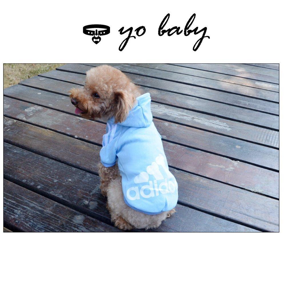 JUYUAN-EU Adidog HundeKleidung Warm Hoodies Mantel Hundejacke H/ündchen Pullover Mantel Haustier Welpen T-Shirt