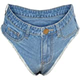 Women's Sexy Mini Denim Shorts Stretch Hot Pants Clubwear Cut Off Denim Jeans
