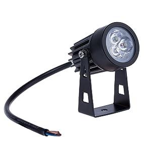 Lemonbest Outdoor LED Landscape Up Down Light Spotlight Low Voltage 12V for yard step lawn lighting (Cool White)