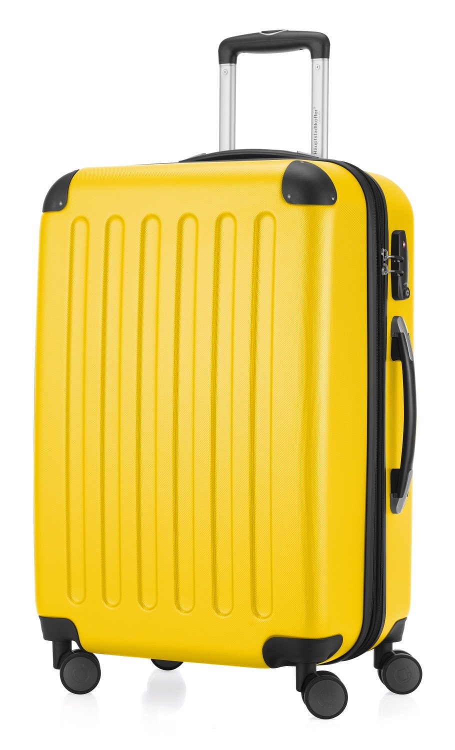 HAUPTSTADTKOFFER Luggages Sets Glossy Suitcase Sets Hardside Spinner Trolley Expandable (20, 24 & 28) TSA (Spree Yellow)