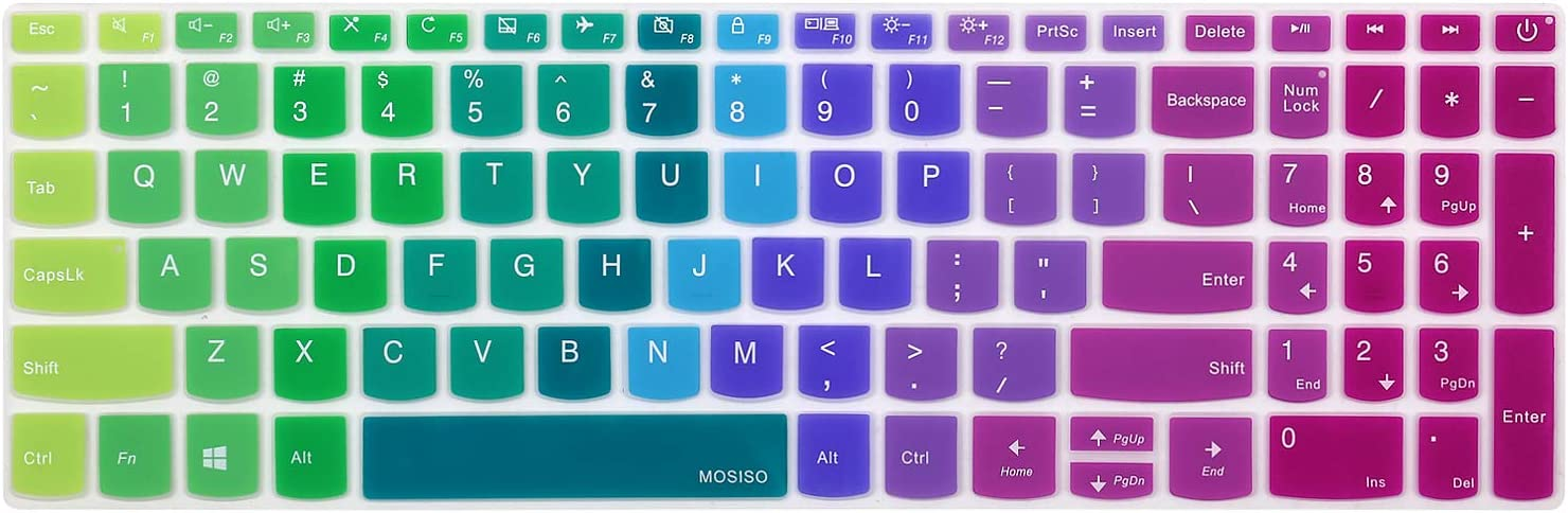 MOSISO Keyboard Cover Skin Compatible with Lenovo IdeaPad 320 330 330s 340s 520 720s 130 S145 L340 S340 15.6 inch, 2019 2018 Lenovo IdeaPad 15.6 inch, Lenovo IdeaPad 320 330 17.3 inch Laptop,Pink&Blue