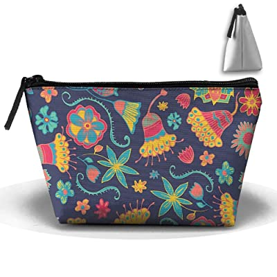 Womens Cosmetic Bags Travel Bloom Toiletry Pouch Portable Trapezoidal Storage Organizer