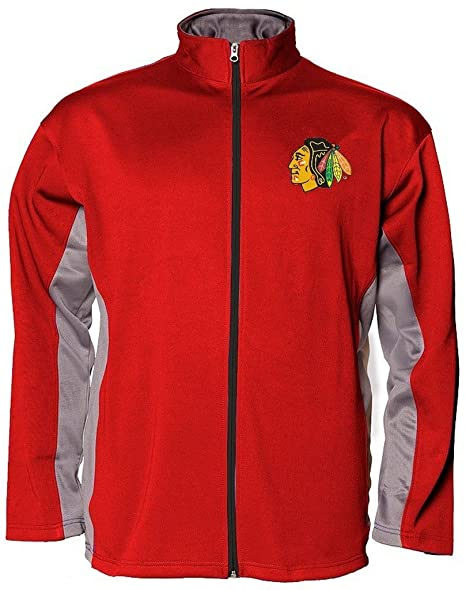 ba6f65472 Majestic Chicago Blackhawks NHL Mens Interference Full Zip Mens Synthetic  Fleece Track Jacket Red Big &