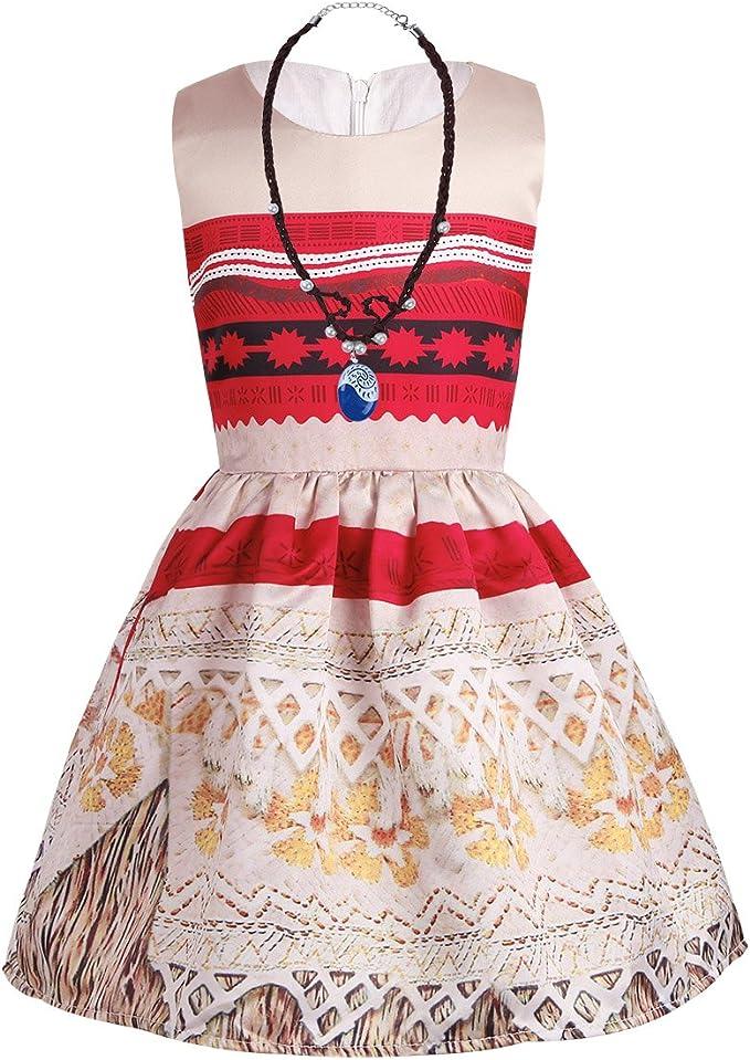 Freebily Conjunto de Disfraz Princesa 3Pc Vaiana Moana Vestido ...